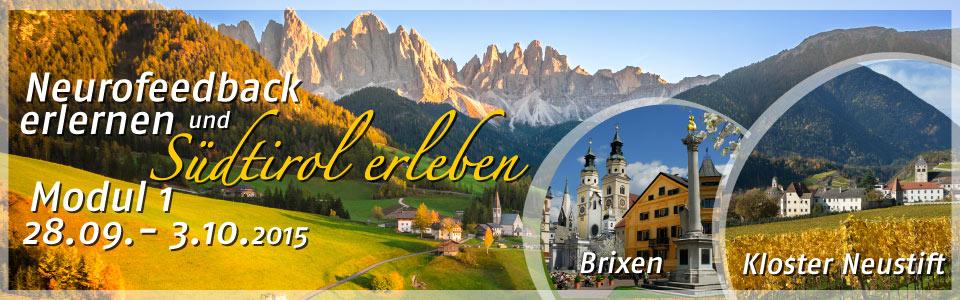 Modul 1 Zertifizierter Neurofeedbacktherapeut IFEN in Südtirol zur schönsten Jahreszeit.